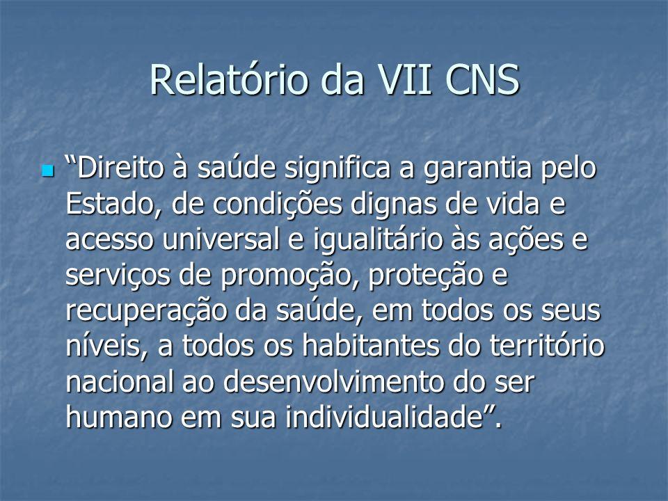 Relatório da VII CNS