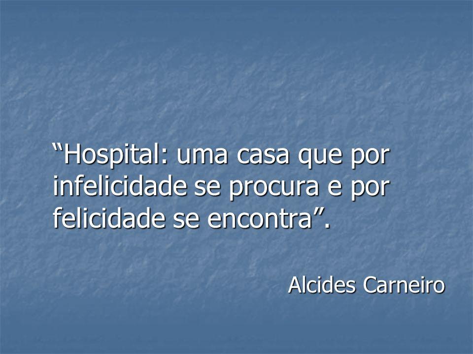 Hospital: uma casa que por infelicidade se procura e por felicidade se encontra .