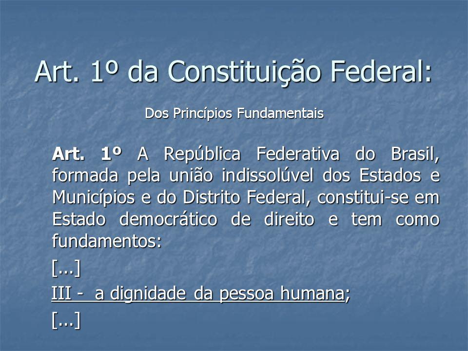 Art. 1º da Constituição Federal: