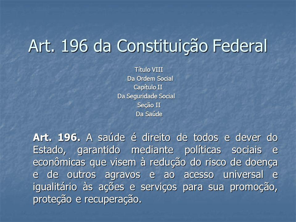 Art. 196 da Constituição Federal