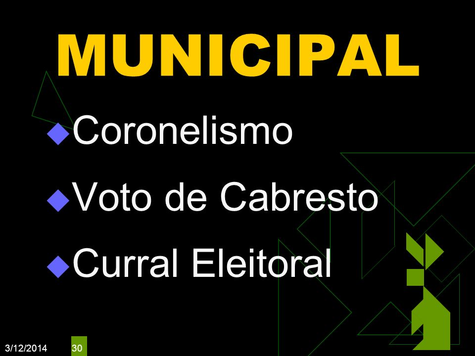 MUNICIPAL Coronelismo Voto de Cabresto Curral Eleitoral 3/26/2017