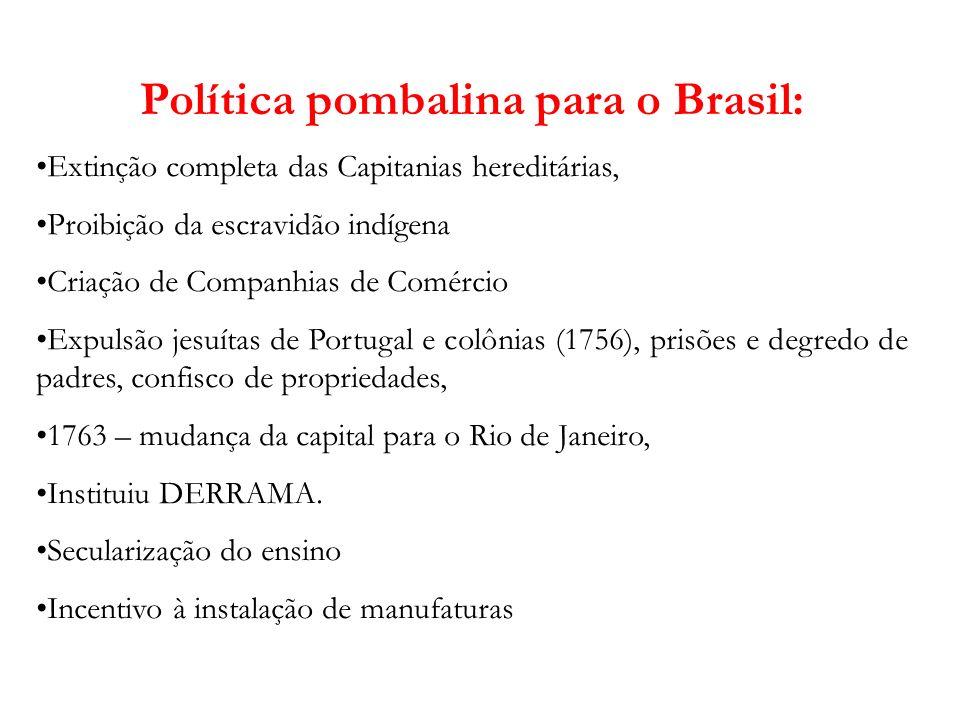Política pombalina para o Brasil: