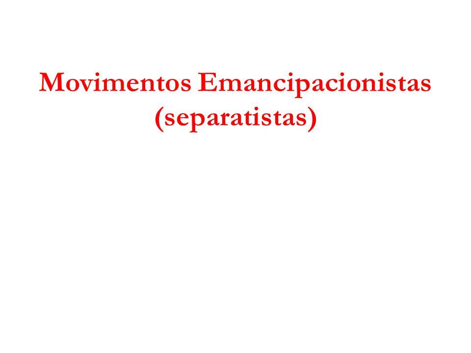 Movimentos Emancipacionistas (separatistas)