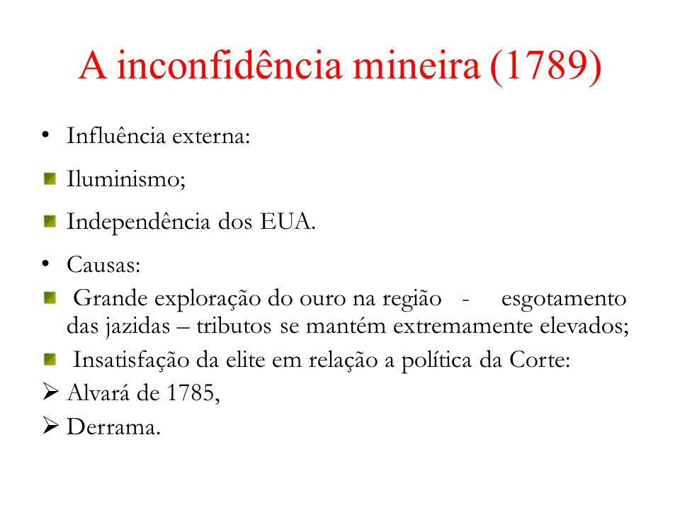 A inconfidência mineira (1789)