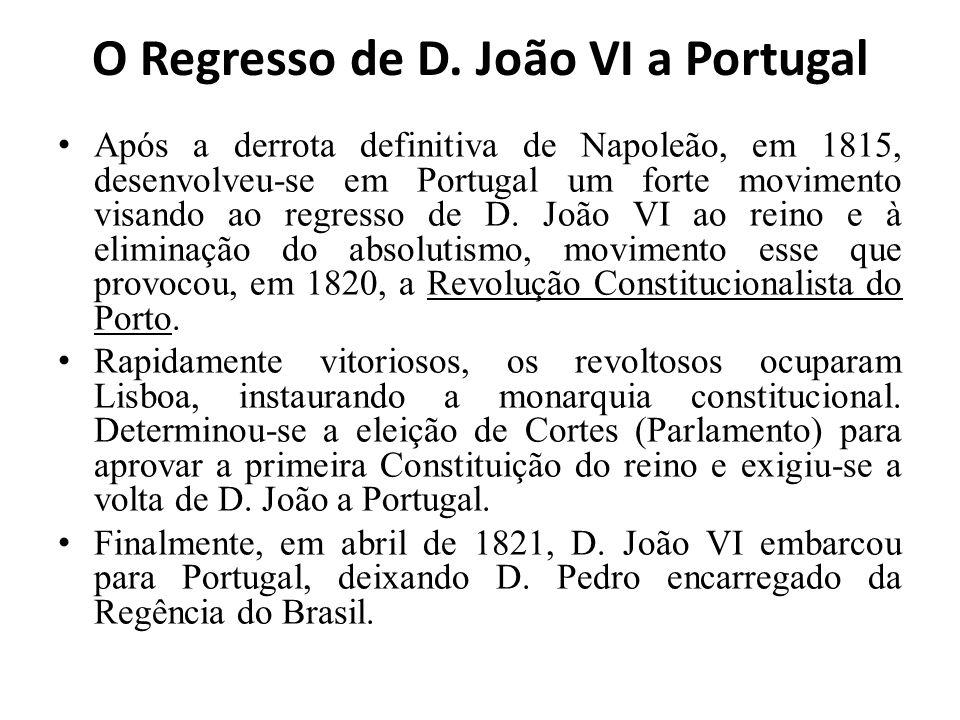 O Regresso de D. João VI a Portugal