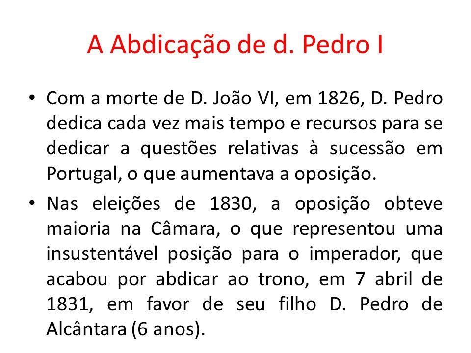 A Abdicação de d. Pedro I