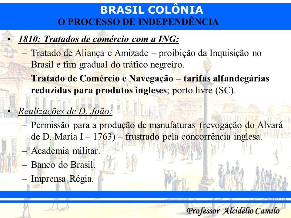 1810: Tratados de comércio com a ING: