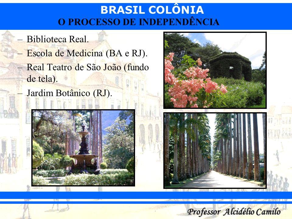Biblioteca Real.Escola de Medicina (BA e RJ).Real Teatro de São João (fundo de tela).