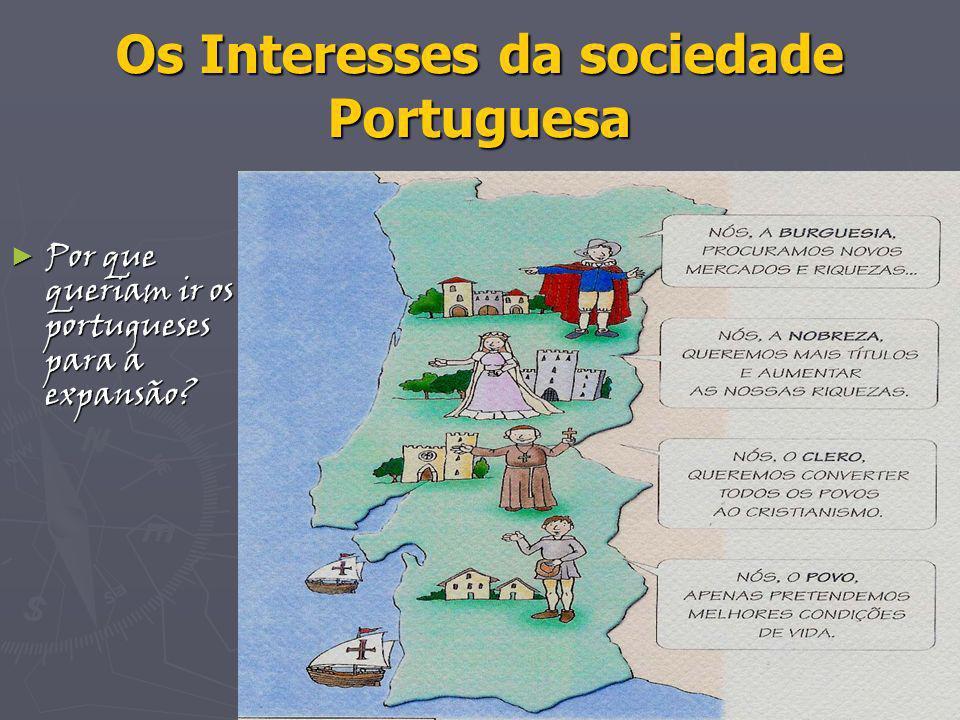 Os Interesses da sociedade Portuguesa