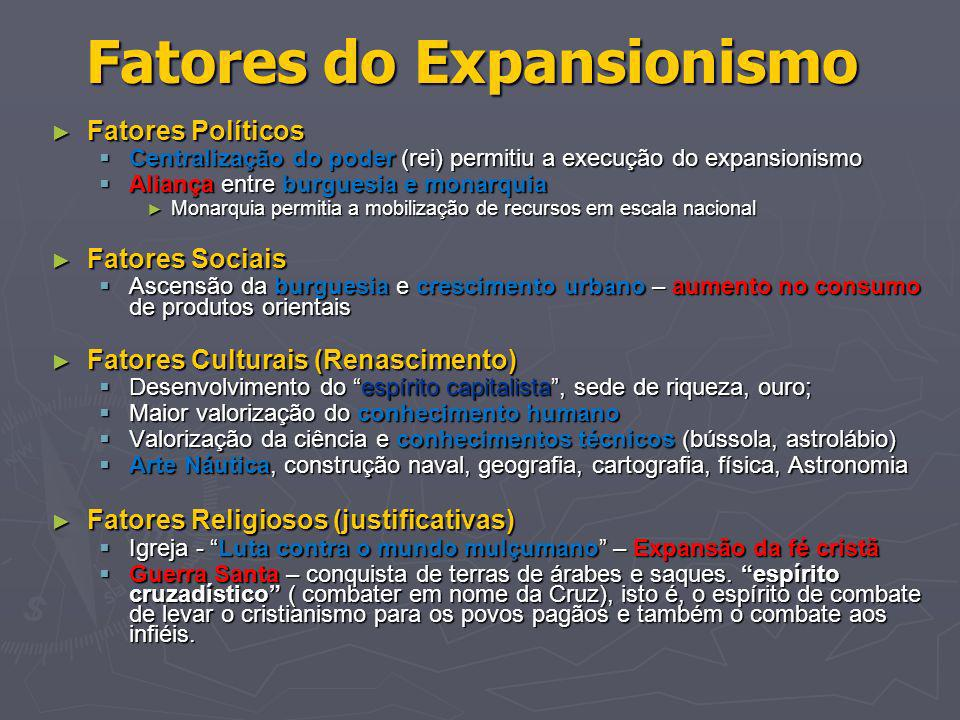 Fatores do Expansionismo