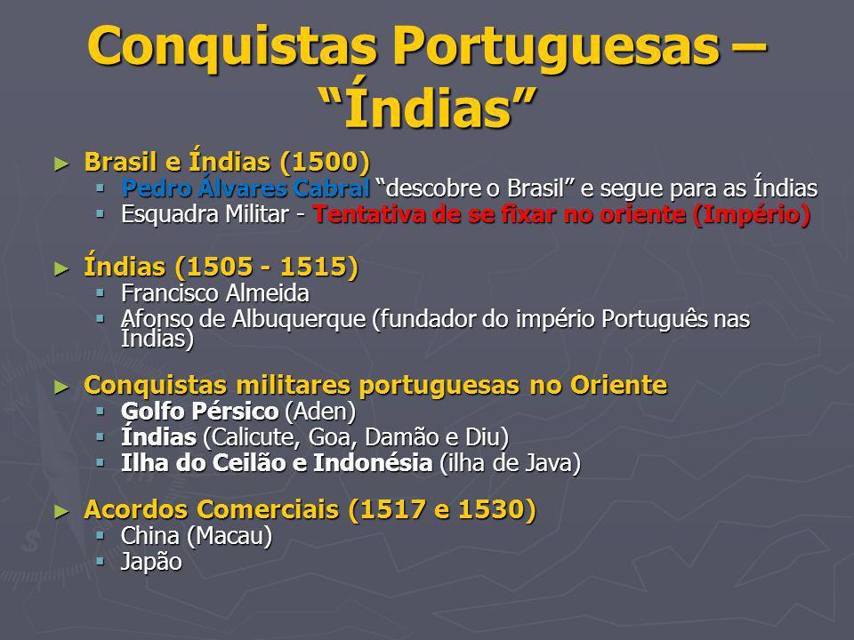 Conquistas Portuguesas – Índias