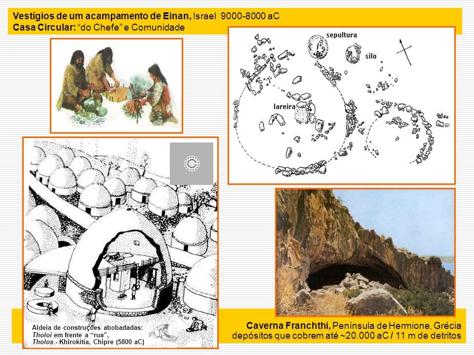 Vestígios de um acampamento de Einan, Israel 9000-8000 aC