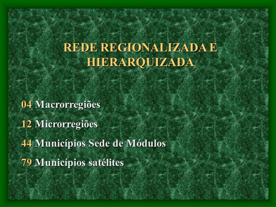 REDE REGIONALIZADA E HIERARQUIZADA