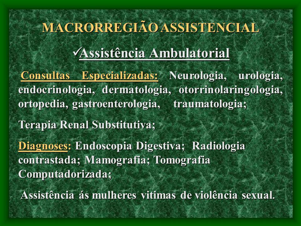 MACRORREGIÃO ASSISTENCIAL Assistência Ambulatorial