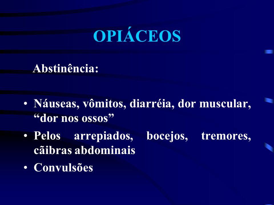 OPIÁCEOS Abstinência: