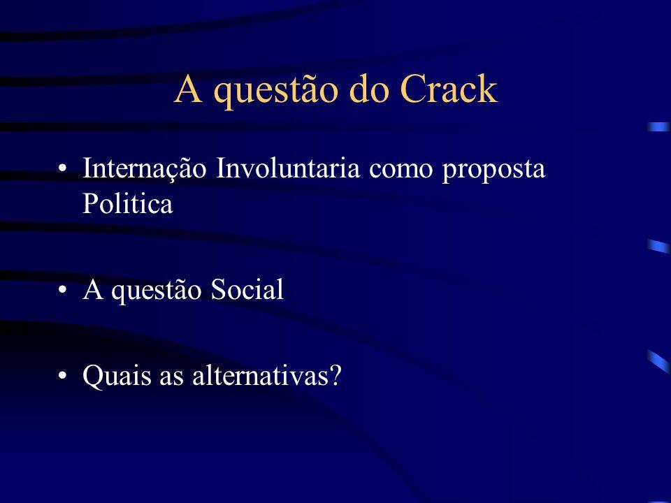A questão do Crack Internação Involuntaria como proposta Politica