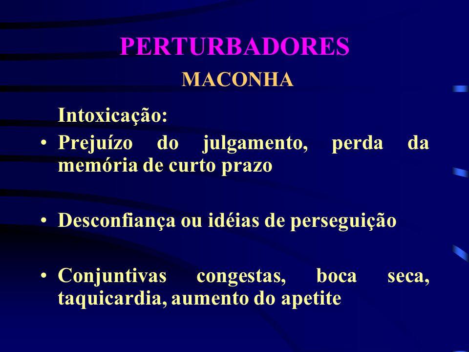 PERTURBADORES MACONHA