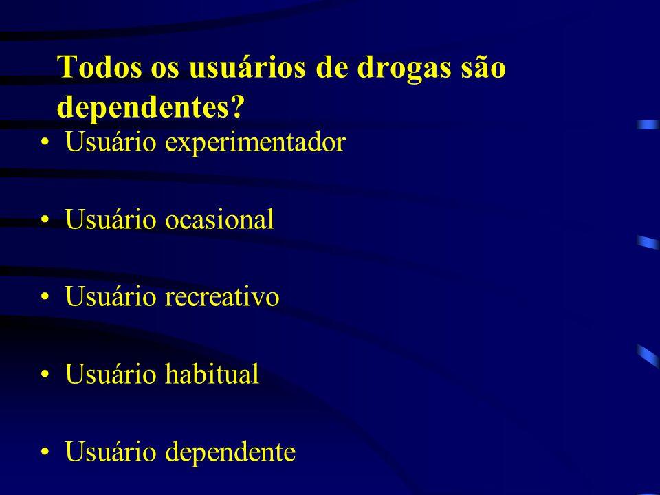 Todos os usuários de drogas são dependentes