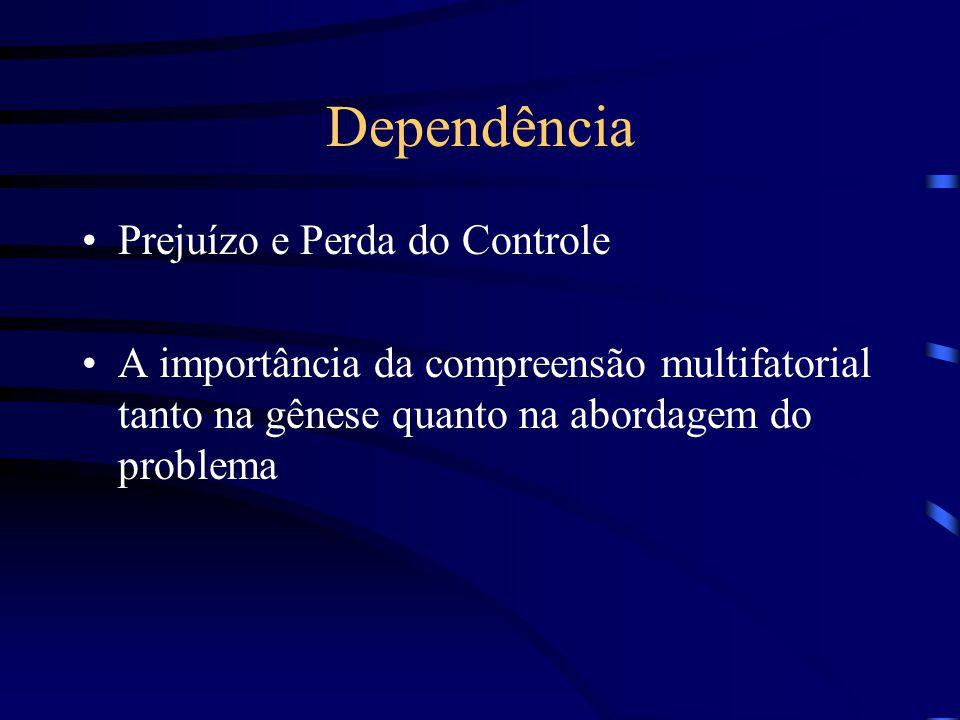 Dependência Prejuízo e Perda do Controle