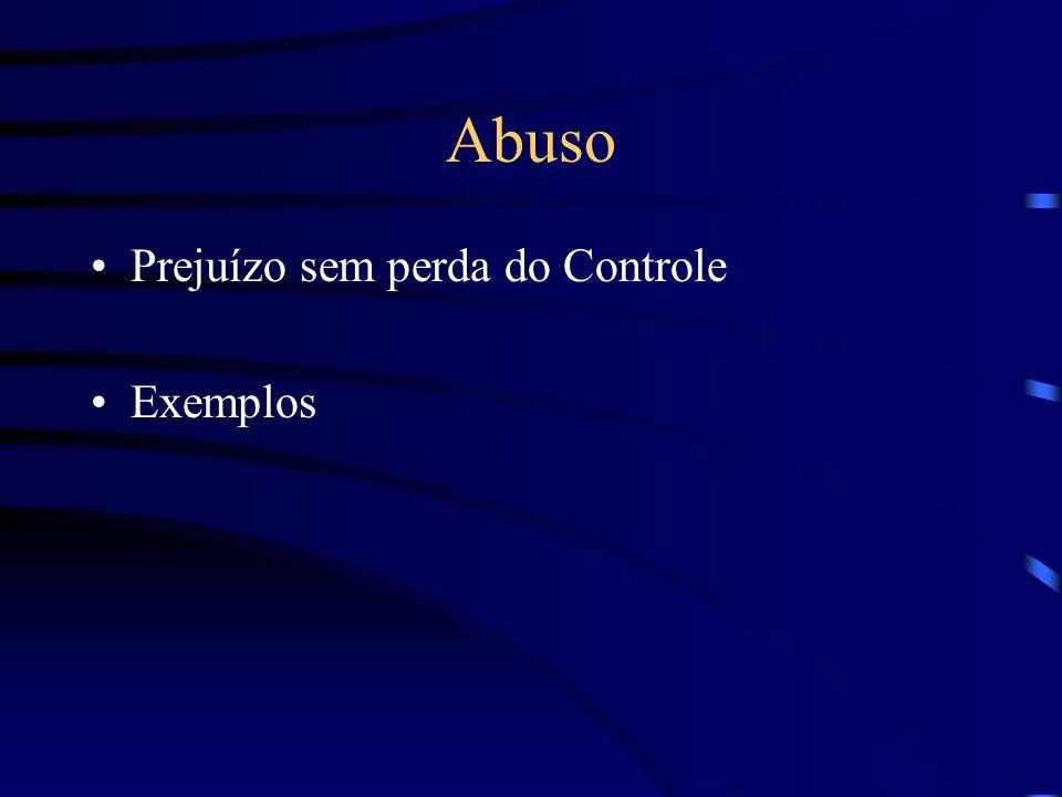 Abuso Prejuízo sem perda do Controle Exemplos