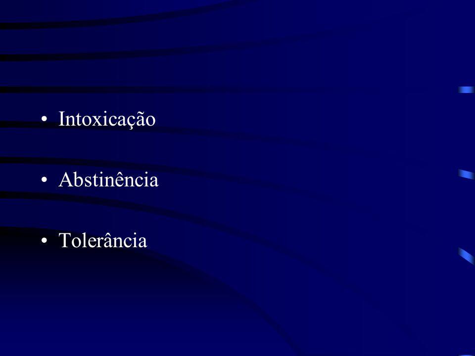 Intoxicação Abstinência Tolerância