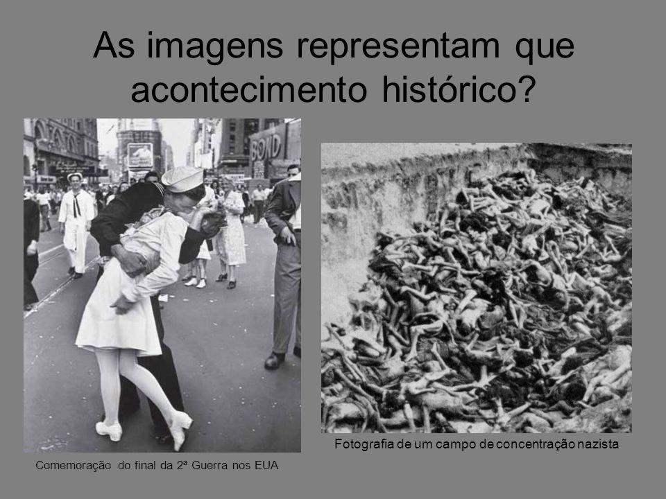 As imagens representam que acontecimento histórico