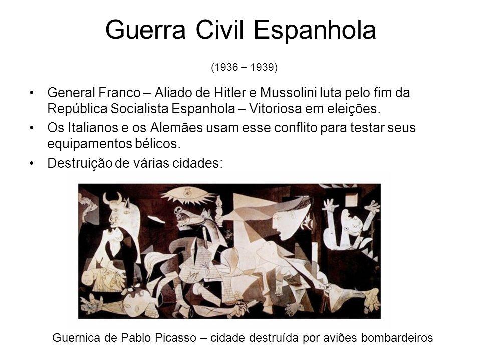 Guerra Civil Espanhola (1936 – 1939)