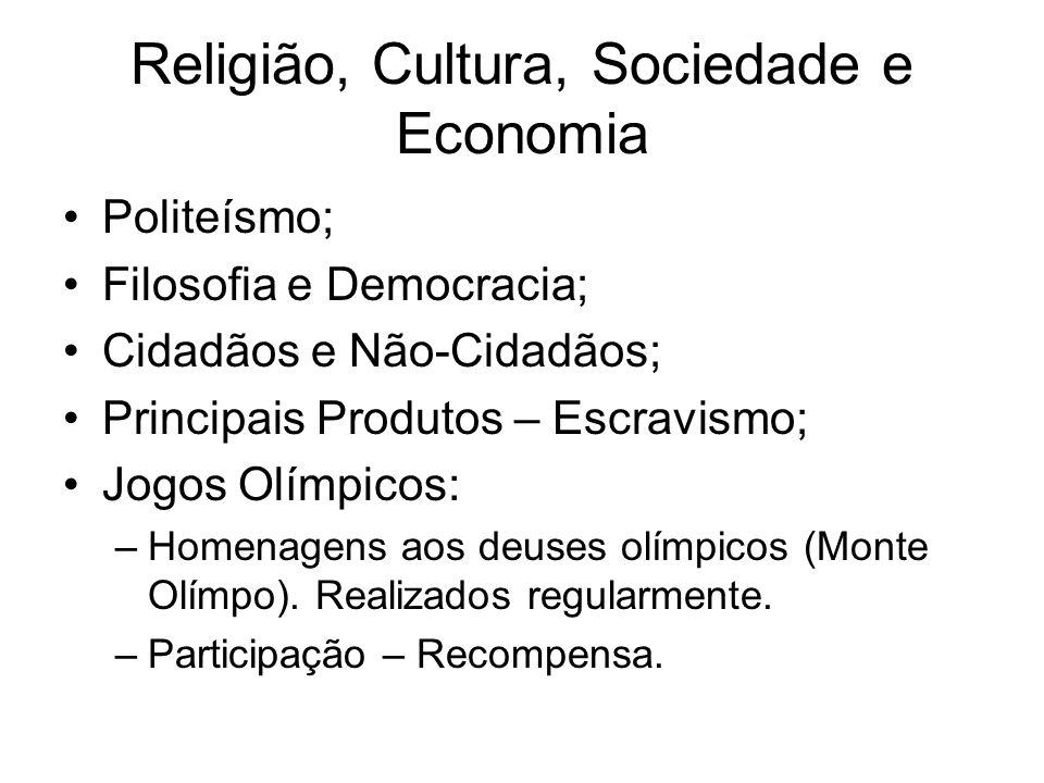 Religião, Cultura, Sociedade e Economia