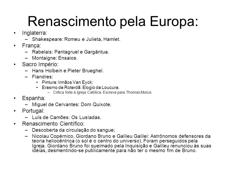 Renascimento pela Europa: