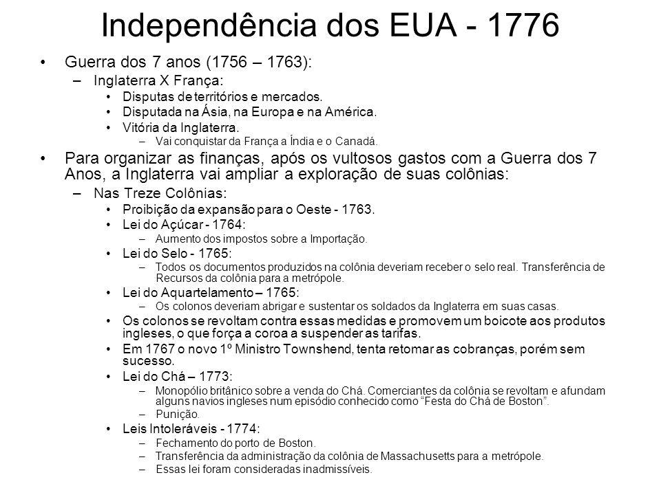 Independência dos EUA - 1776
