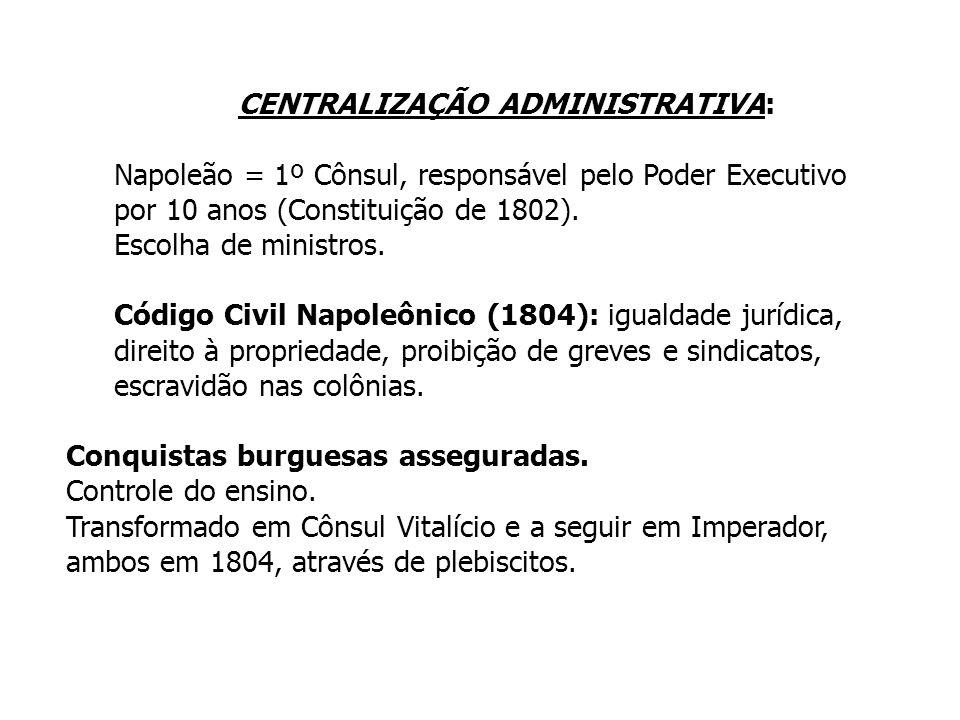 CENTRALIZAÇÃO ADMINISTRATIVA: