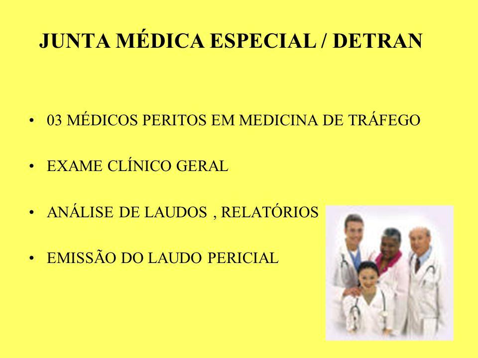 JUNTA MÉDICA ESPECIAL / DETRAN