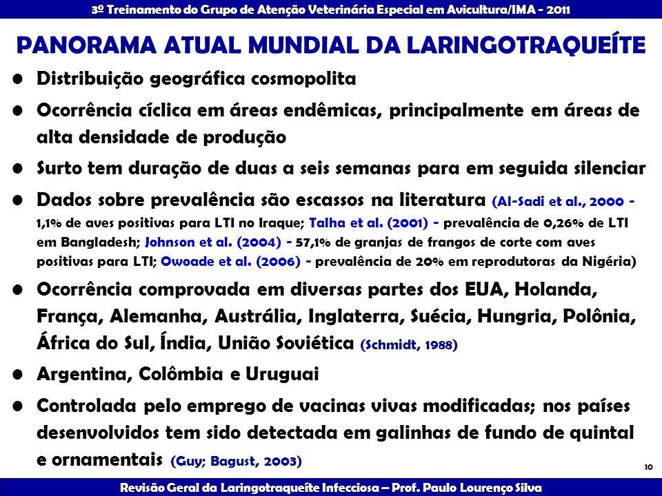 PANORAMA ATUAL MUNDIAL DA LARINGOTRAQUEÍTE