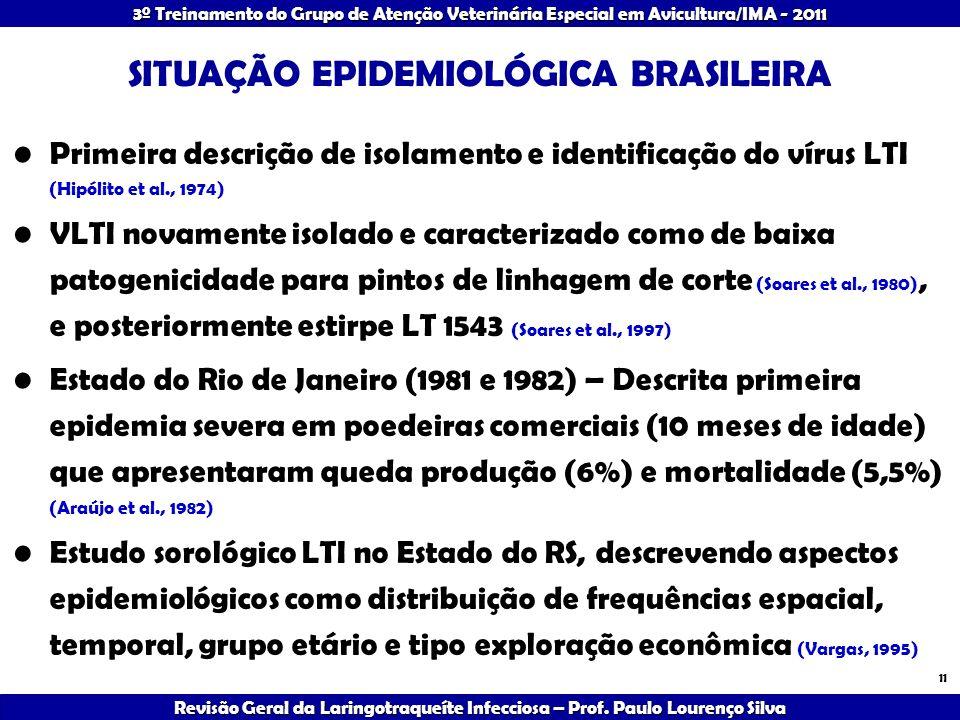 SITUAÇÃO EPIDEMIOLÓGICA BRASILEIRA