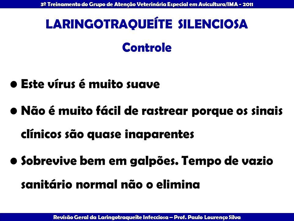 LARINGOTRAQUEÍTE SILENCIOSA Controle