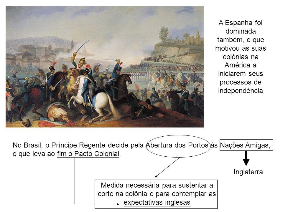 A Espanha foi dominada também, o que motivou as suas colônias na América a iniciarem seus processos de independência