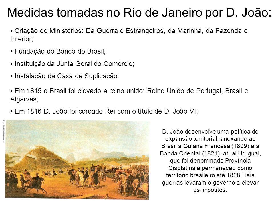 Medidas tomadas no Rio de Janeiro por D. João: