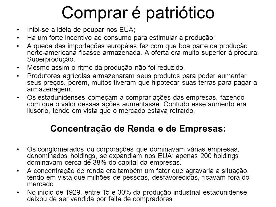 Concentração de Renda e de Empresas: