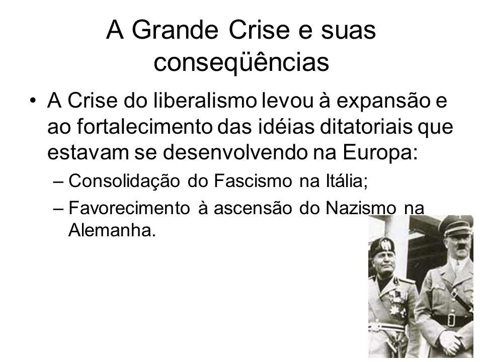 A Grande Crise e suas conseqüências