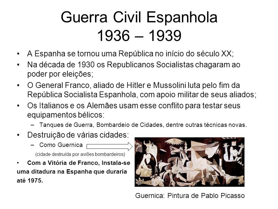 Guerra Civil Espanhola 1936 – 1939