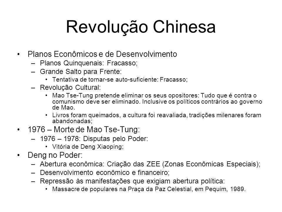 Revolução Chinesa Planos Econômicos e de Desenvolvimento