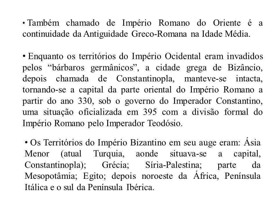 Também chamado de Império Romano do Oriente é a continuidade da Antiguidade Greco-Romana na Idade Média.