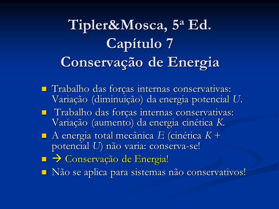 Tipler&Mosca, 5a Ed. Capítulo 7 Conservação de Energia