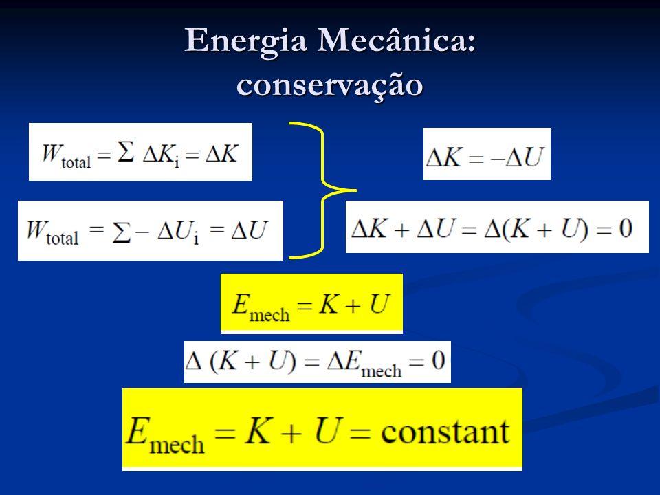 Energia Mecânica: conservação