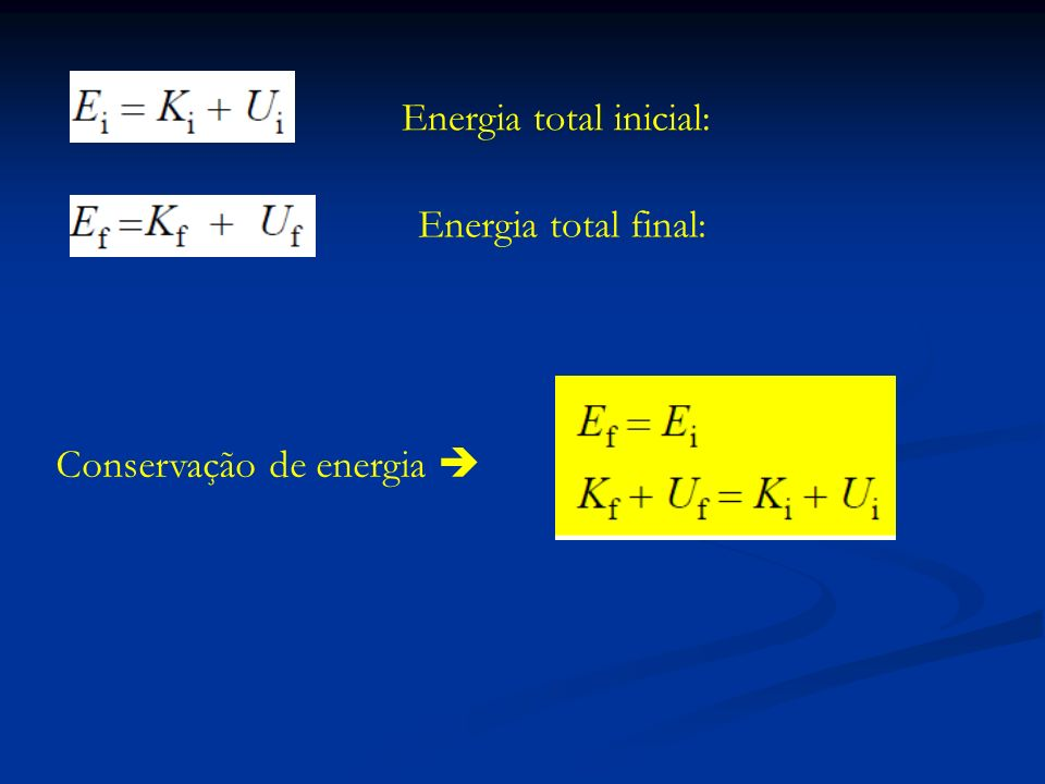 Energia total inicial: