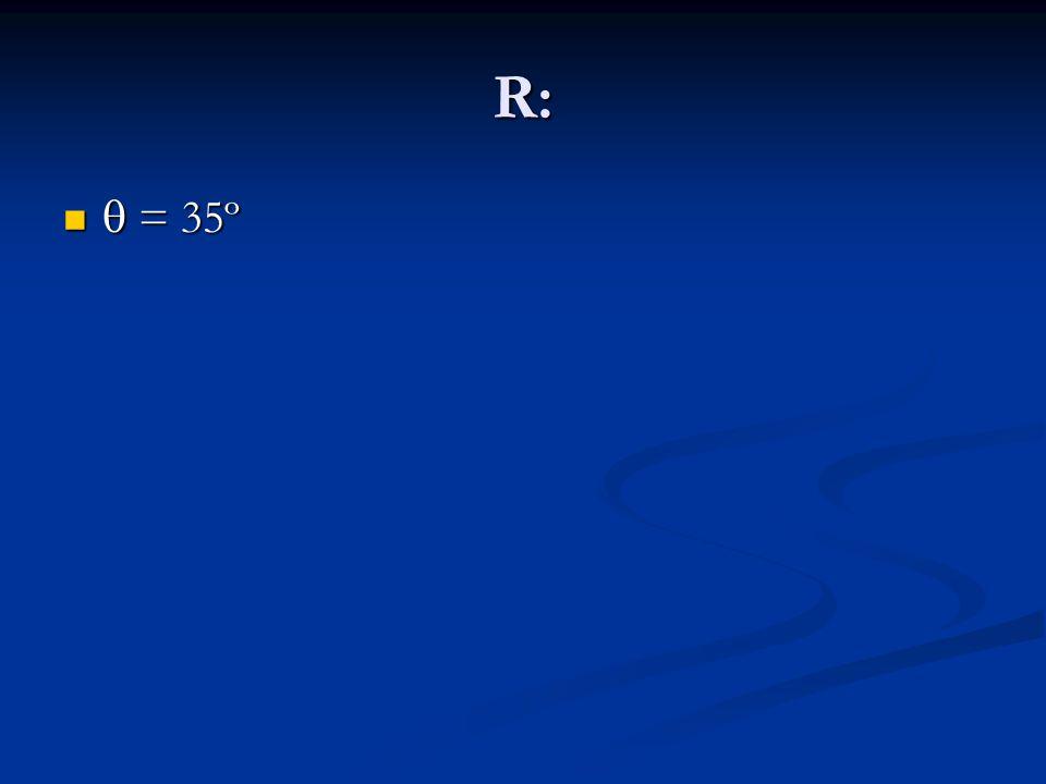 R: q = 35º