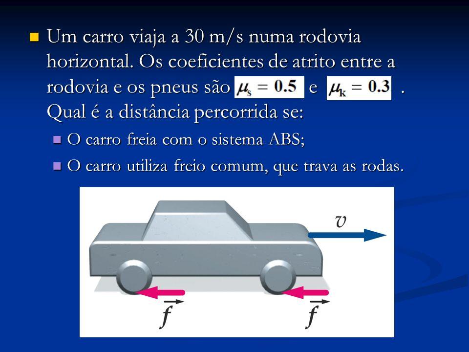 Um carro viaja a 30 m/s numa rodovia horizontal
