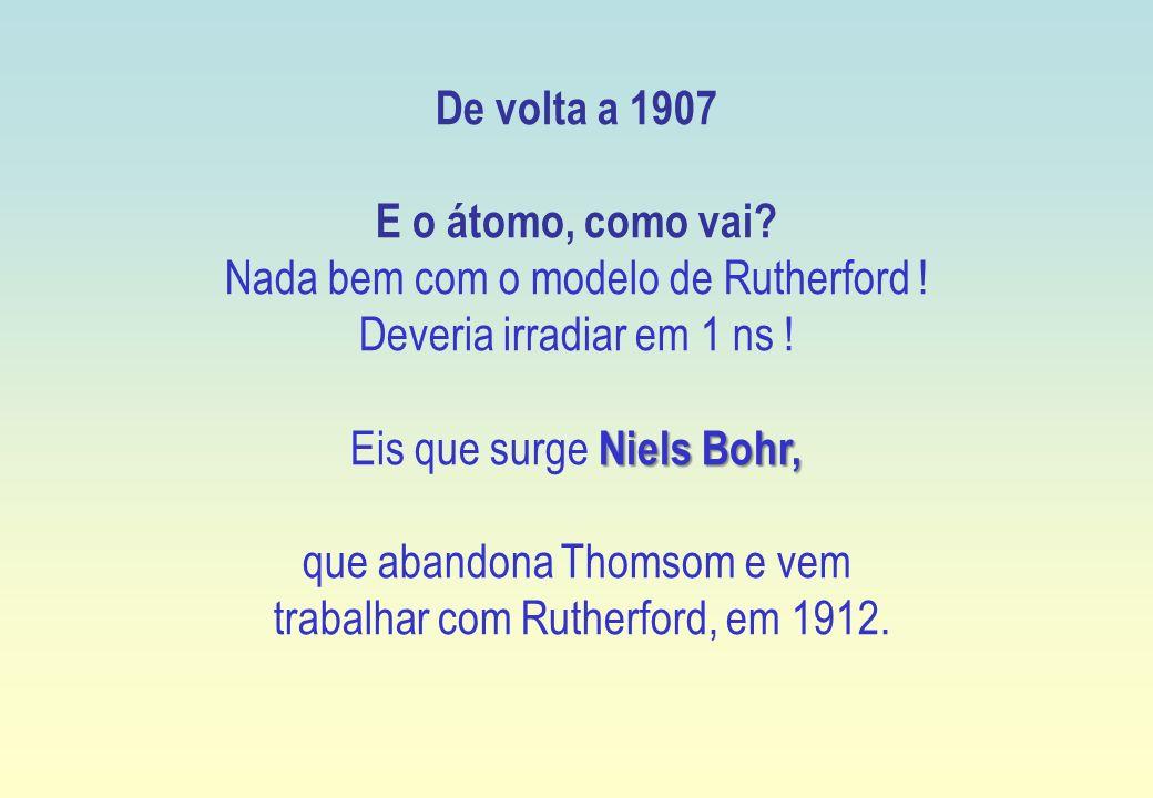De volta a 1907 E o átomo, como vai