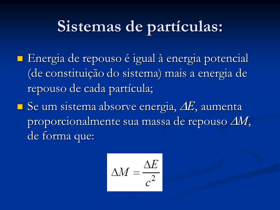 Sistemas de partículas: