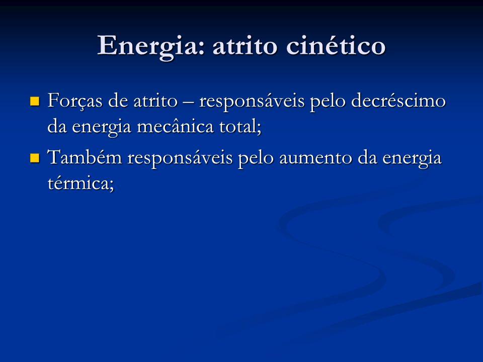 Energia: atrito cinético